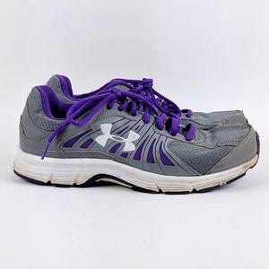 Under Armour   Purple Gray Running Shoe